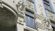 Stock Video Footage of Art deco archtecture in Riga, Latvia 2