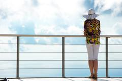 woman admiring the view - stock photo