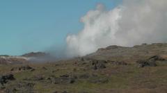 Geothermal area at snaefellsjoekull national park iceland Stock Footage