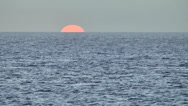 Stock Video Footage of KeyWest 132HD, last Moment of Sunset, leaving Sun at Horizon of open Sea