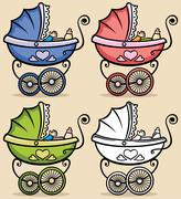 Baby Stroller Stock Illustration