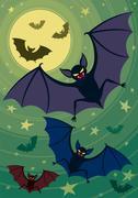 Bats Stock Illustration