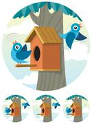 Birdhouse - stock illustration