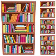Bookshelf - stock illustration