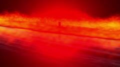 """4K Ultra HD. Abstract Logo """"4K"""" in flame. Stock Footage"""