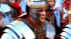 Soldiers pursuit - Roman army 23 Stock Footage