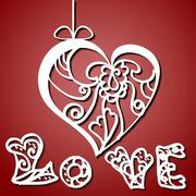 Card for Valentine Day Stock Illustration