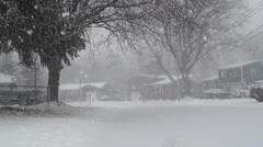 Snow, Blizzard, Precipitation, Winter - stock footage