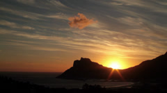 Houtbay sunset timelapse Stock Footage