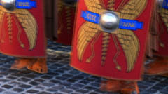 Roman army 24 (marching soldiers) Stock Footage