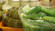 Stock Video Footage of Pickled cucumbers