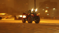 Snow Removal Equipment deployed during Snowstorm Stock Footage