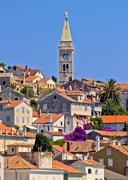 Colorful adriatic town of losinj Stock Photos