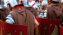 Roman army 28 (with sound) Stock Footage