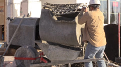 Construction, mixing stucco - stock footage