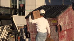 Construction, carrying building material - stock footage