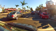 Driving On Pacific Coast Highway In Newport Beach California - stock footage