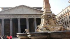 Roman Pantheon - stock footage
