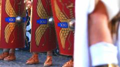 Roman army 35 (swords out) Stock Footage