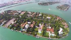 Star Island Miami Beach Stock Footage