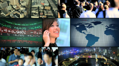 Video montage Chinese business city __traffic - stock footage
