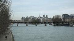 Seine - Paris Stock Footage