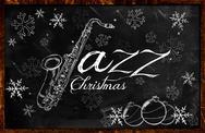 Stock Illustration of Jazz Christmas music background