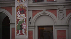 House of Blackheads in Riga, Latvia - stock footage