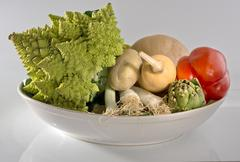 Vegetables in bowl Stock Photos
