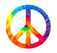 Tie Dye peace sign Stock Illustration
