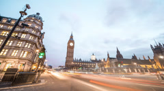 Big Ben in 4K Timelapse Famous London England Landmark Clock Tower - stock footage