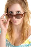 Girl with sunglasses. Stock Photos
