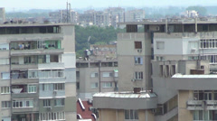 Rooftops of Sofia, Bulgaria - stock footage