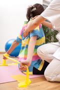 preventive physiotherapy - stock photo
