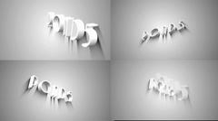 3D Text/White slogan - stock after effects