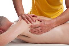 Sports masseur Stock Photos