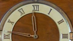 Retro clock with Roman numerals Stock Footage