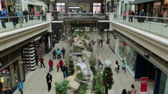 Christmas shopping indoor luxury mall fast timelapse HD 0243 Stock Footage