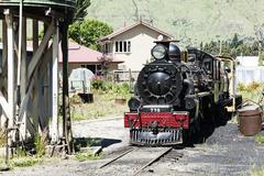 Vanha juna moottori Kuvituskuvat