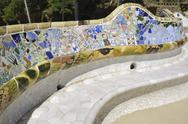 Stock Photo of mosaic bench