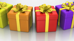 Gift Boxes Stock Footage