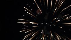 Defocused fireworks seamless loop Stock Footage