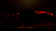 liquid ocean sea water lava magma,spray waves & volcanic activity. - stock footage