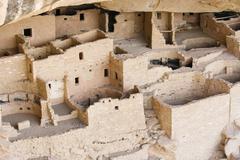 indian ruins at mesa verde - stock photo