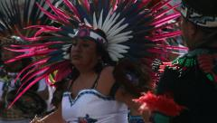 Close-up of Mexican dancers Stock Footage