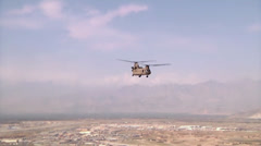 Task Force Corsair CH-47F Chinooks helicopters Stock Footage