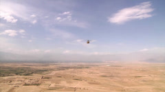 Stock Video Footage of Task Force Corsair CH-47F Chinooks helicopters