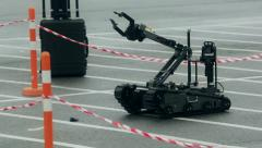 Military sapper robot - stock footage