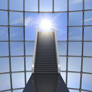 toward the light - stock illustration