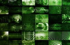 Interactive media Stock Illustration